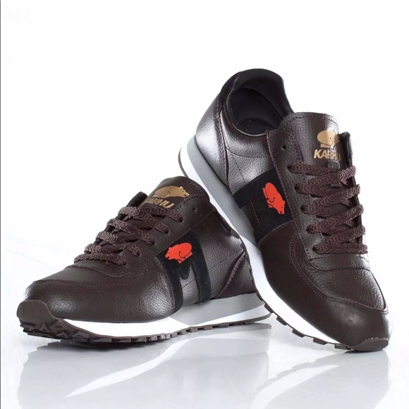 Leather Brown Sneakers Mens